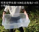 塑膠烏龜缸帶排水生態養烏龜大盆巴西龜草龜鱷龜帶曬台水陸兩用缸ATF 喜迎新春 全館5折起