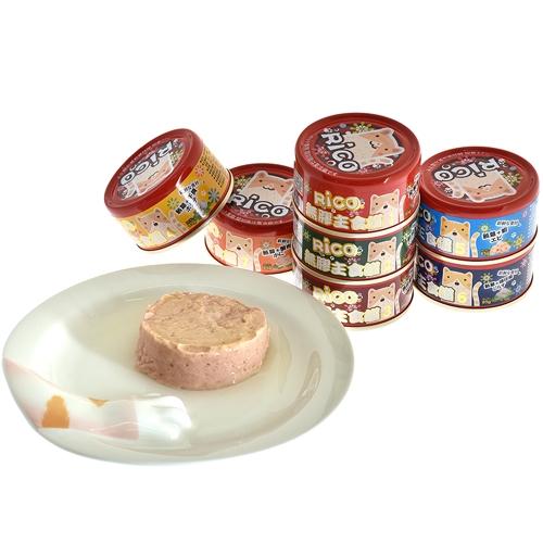 【寵物王國】芮可RICO無膠全肉貓用主食4號罐(鮪雞+干貝口味)85g