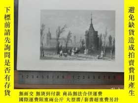 二手書博民逛書店【罕見】19世紀 銅 鋼版畫 單幅 ENTRANCE TO MO