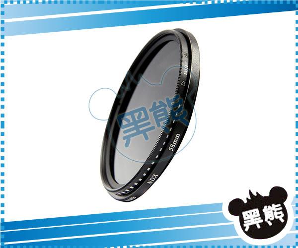 黑熊館 ROWA  ND2-ND400 可調式減光鏡 82mm 可調式 旋轉式 減光鏡