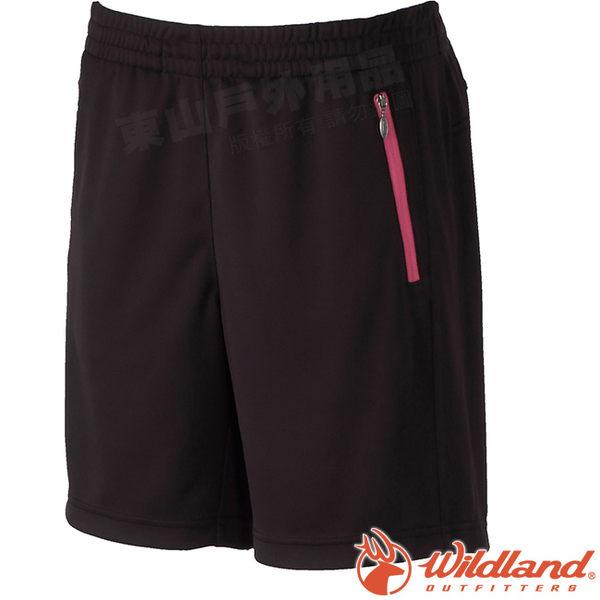 Wildland 荒野 W1663-54黑色 女 透氣抗UV排汗短褲 抗UV/吸濕排汗/透氣機能褲/休閒褲/運動褲