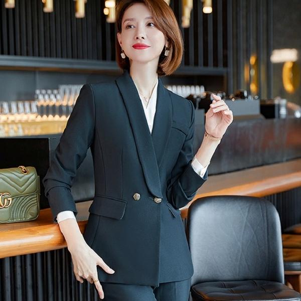 成熟顯瘦新型領秋冬西裝外套[21S239-PF]美之札