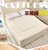 加厚保暖褥子宿舍學生床羊羔絨床墊床褥 單雙人墊被