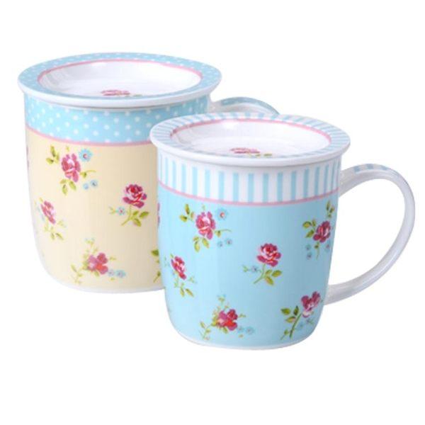 情侶對杯陶瓷早餐杯簡約情侶對杯牛奶咖啡馬克杯子帶蓋情人節禮物水杯·樂享生活館