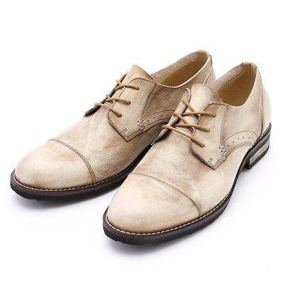 真皮短靴-繫帶復古做舊紳士品味男靴子3色73kk71【巴黎精品】