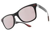 RayBan偏光太陽眼鏡RB4195MF F602H2 (霧黑-淺粉水銀粉鏡片) 法拉利聯名款 # 金橘眼鏡