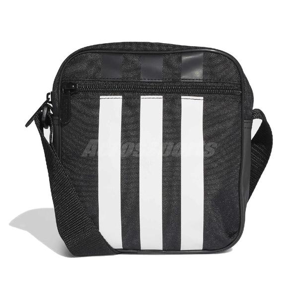 adidas 斜背包 3-Stripes Organizer 黑 白 男女款 運動休閒 【ACS】 FL1750
