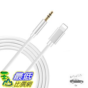 [8美國直購] (Apple MFI Certified) Aux Cord for iPhone Xs XR X 8 7 Plus, Lightning to 3.5 mm Headphone Jack Adapter Aux