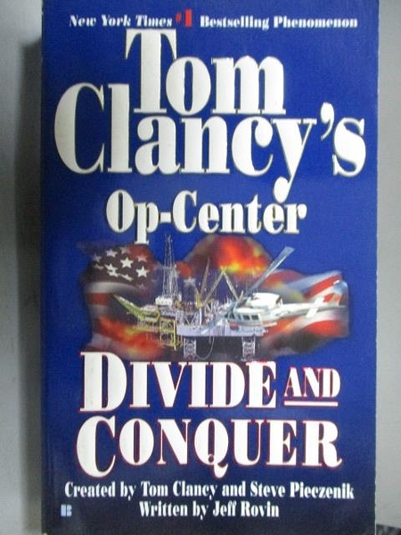 【書寶二手書T7/原文小說_CBY】Tom Clancy s Op-Center_Divide and Conquer
