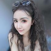 馬尾假髮韓系假髮女長捲髮大波浪玉米須綁帶馬尾隱形無痕韓系可愛假髮片一片式