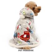 【PET PARADISE 寵物精品】Gaspard et Lisa 2020新款 雪花紅襪滿版懶人毯(3S/SS/S) 寵物衣服 秋冬新品