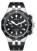 EDOX 依度 Delfin 專業200米防水E10109.357NCA.NIN計時碼錶黑/鋼43mm