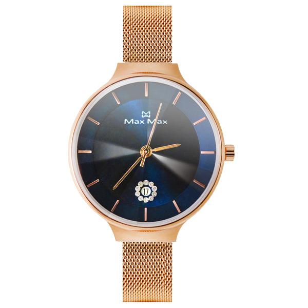 Max Max 晶鑽日期時尚腕錶-MAS7027-4