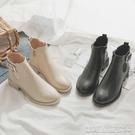 平底短靴秋冬季新款網紅平底馬丁靴女英倫風瘦瘦靴小跟短靴女春秋單靴 【快速出貨】