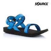 SOURCE 女 健走型運動涼鞋Classic101012BB【藍】 / 城市綠洲(織帶、輕量、快乾、抑菌)