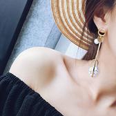 耳環 幾何 圓形 金屬 不對稱 垂墜 耳環【DD1612133】 BOBI  04/20