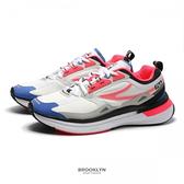 FILA 慢跑鞋 CURVELET 白桃紅 藍 反光 BTS 情侶款 休閒鞋 男女 (布魯克林) 4J534U121