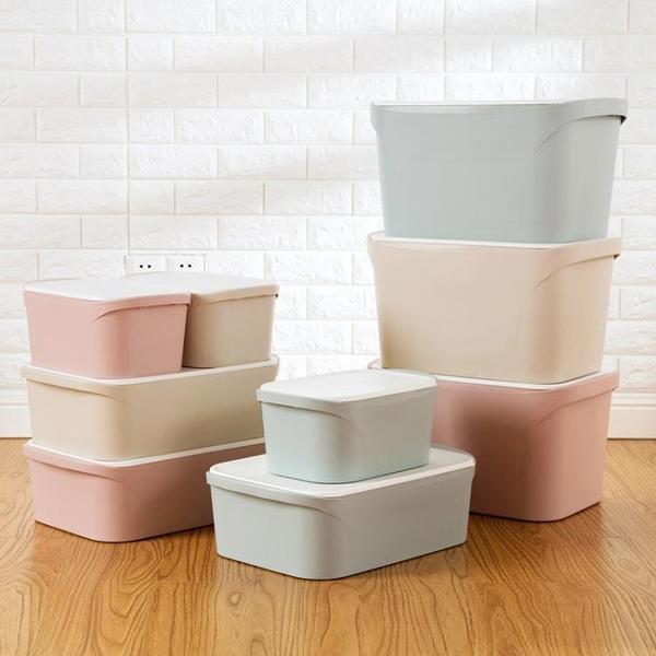 [超豐國際]塑料衣服收納箱衣柜整理箱 大號有蓋衣物箱子收納盒儲物