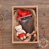 一件免運-花束生日禮物女生閨蜜特別實用小清新女朋友情侶香皂花節日禮物創意