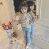 女童秋裝2018新款韓版打底衫時尚T恤洋氣兒童襯衫長袖上衣體恤潮