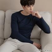 【GIORDANO】男裝G-WARMER PLUS+圓領極暖衣-03 標誌海軍藍