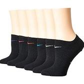 Nike耐吉- 女6包組無外現運動襪(黑色)