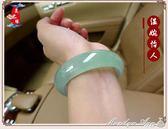 手鐲女款淺綠玉鐲冰透玉石玉鐲子玉器送媽媽禮品 瑪麗蓮安