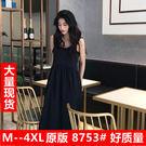 海外直發不退換韓版洋裝大尺碼很仙女吊帶連...