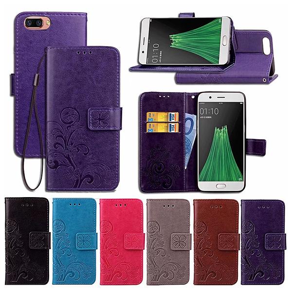 全新品 出清 三星 J8 S8 Plus 手機皮套 幸運草皮套 內軟殼 插卡 支架 磁扣 手機殼