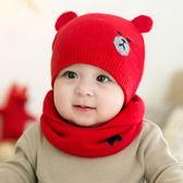 聖誕節狂歡 嬰兒帽子寶寶帽子秋冬兒童帽子新生兒帽男童針織帽女童毛線帽童帽