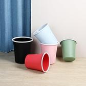垃圾桶 磨砂創意垃圾桶家用大號衛生間客廳廚房臥室辦公室帶壓圈垃圾桶【幸福小屋】