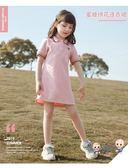 洋裝 女童洋裝夏裝2019新款兒童裙子女孩公主童裝中大童洋氣POLO衫裙 4色