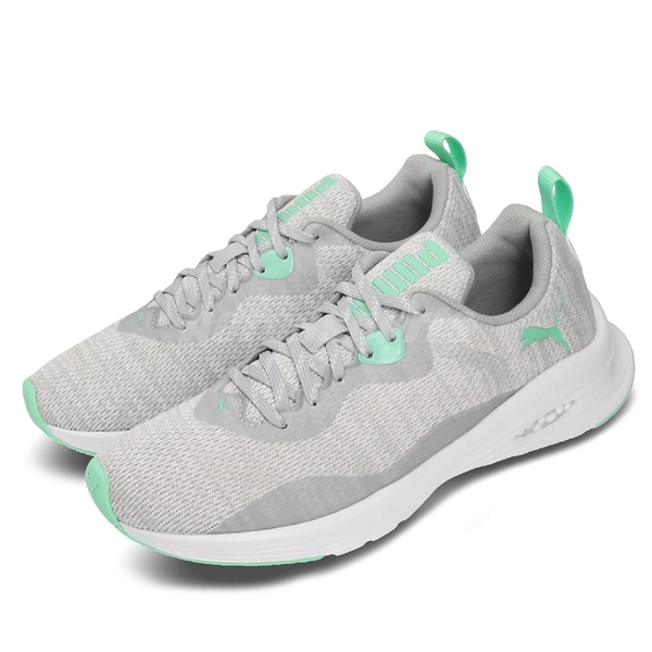 Puma 慢跑鞋 Hybrid Fuego Knit Wns 灰 綠 女鞋 運動鞋 【ACS】 19295705