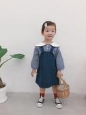 女童吊帶裙 2020新款秋裝女童韓版牛仔背帶裙兒童寶寶洋氣吊帶裙中小童裙子 小天後
