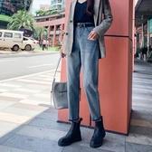特賣直筒褲牛仔褲女秋季新款高腰顯瘦顯高寬鬆闊腿哈倫直筒蘿卜老爹褲子