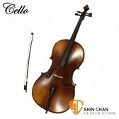 初級虎紋楓木4/4 大提琴 Cello (附弓、松香、琴架、硬盒)   AB15-P