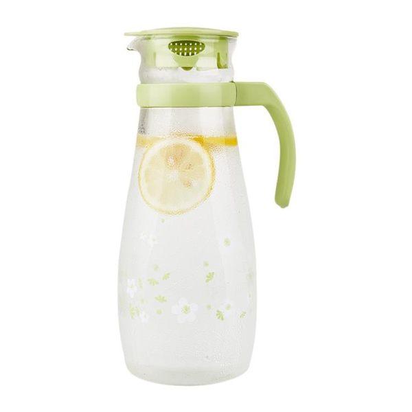 紫丁香 耐高溫玻璃涼水壺大容量扎壺開水壺冷水壺水具果汁壺1.3L
