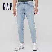 Gap男裝 淺色水洗五袋直筒牛仔褲 692790-淺靛藍
