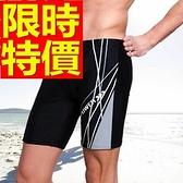 四角泳褲-溫泉個性百搭運動型男平口褲56d16[時尚巴黎]