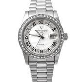 valentino coupeau羅馬數字貝面鑽手錶NEV72