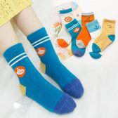聖誕好物85折 妙優童兒童襪子純棉寶寶襪子秋冬厚款男女童嬰兒襪子地板襪5雙裝
