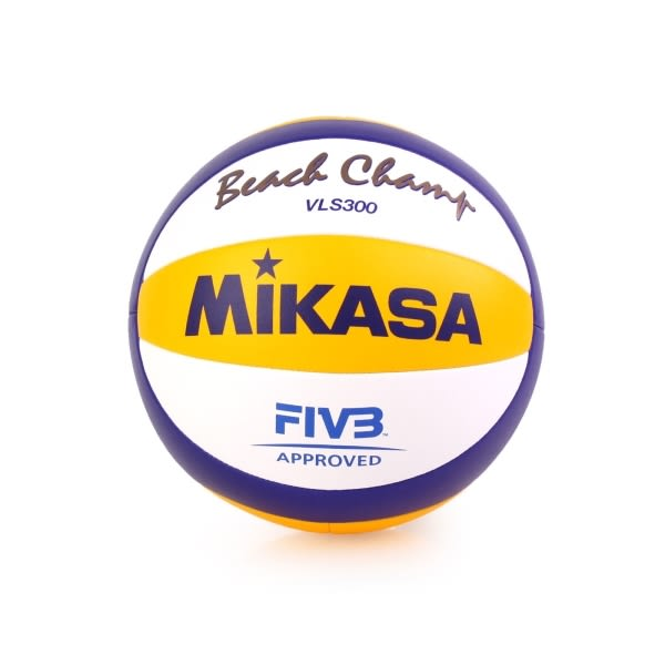 【MIKASA】手縫沙灘排球-5號球 FIVB指定球 海邊 黃藍白