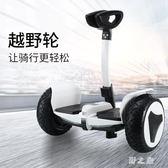 女朋友帶扶桿智慧自平衡車成年雙輪代步小孩學生成人兒童兩輪越野 qz3715【野之旅】