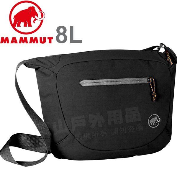 Mammut長毛象 2520-00570-00018黑 8L多功能休閒側背包 Shoulder Bag單肩包