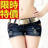 牛仔短褲-高腰新款丹寧女休閒褲57d35【巴黎精品】
