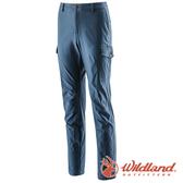 【wildland 荒野】男 RE彈性合身時尚保暖長褲『土耳其藍』0A22392 戶外 休閒 釣魚褲 登山 露營 運動褲