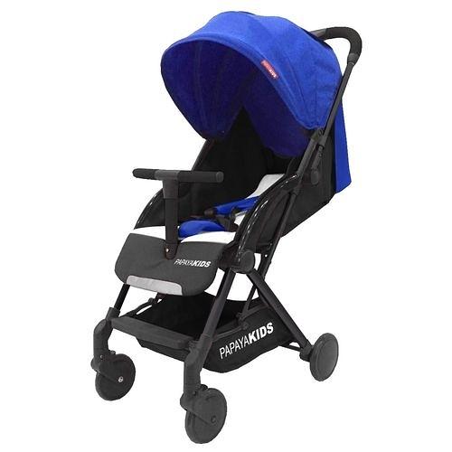馬克文生 PAPAYA KIDS 一鍵秒收口袋車/嬰幼兒手推車-藍色(P20T)座布可拆[衛立兒生活館]