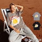 立體發泡 超大煎蛋【OBIYUAN】情侶 短袖t恤 落肩寬鬆 衣服 共2色【SW3302】