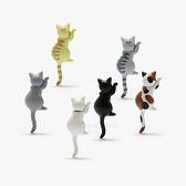 冰箱貼長尾貓咪強力磁鐵3d立體磁貼【步行者戶外生活館】
