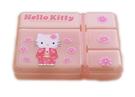 Hello Kitty 日本櫻花風凱蒂貓五格收納盒/藥盒